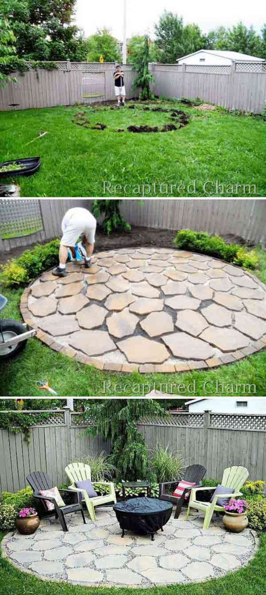 A Stone Patio for Backyard Entertainment