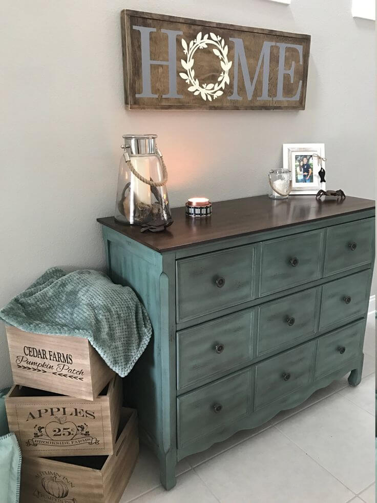Chalk Paint Makeover with Primitive Apple Crates