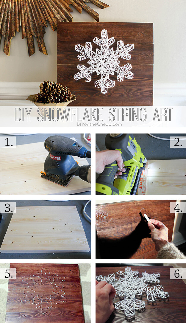 Charming Snowflake String Art Project