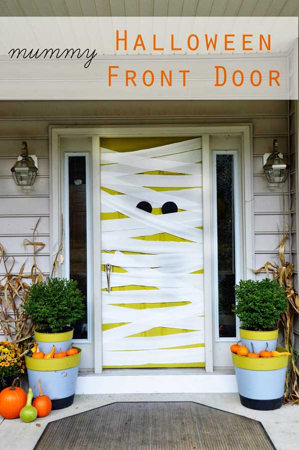 Halloween Mummy Door Idea