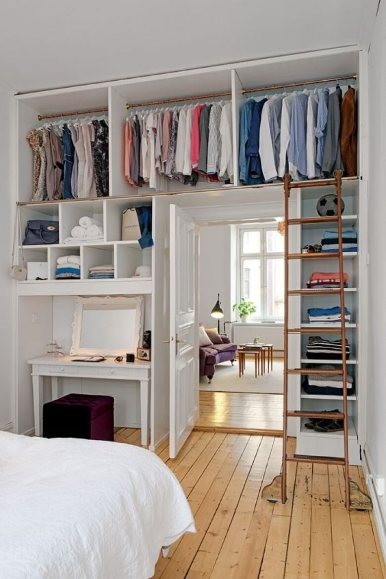 Above The Door Closet With Ladder
