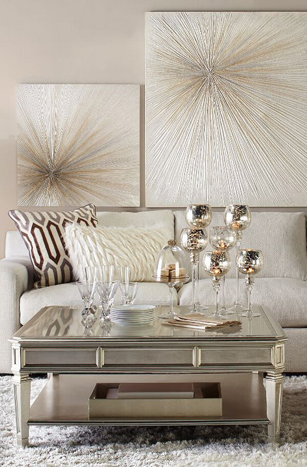Make Bold Metallics More Livable with Beige