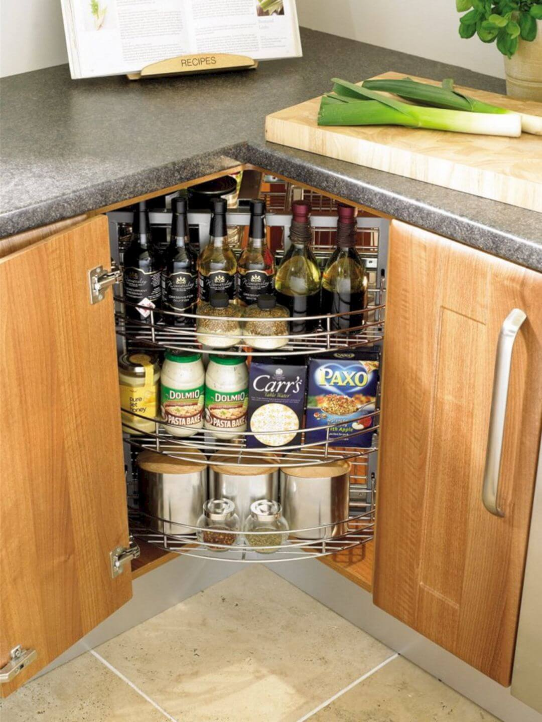 Lazy Susan Under the Cabinet