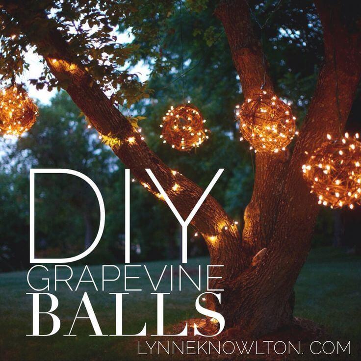 Country Cosmos Handmade Grapevine Balls