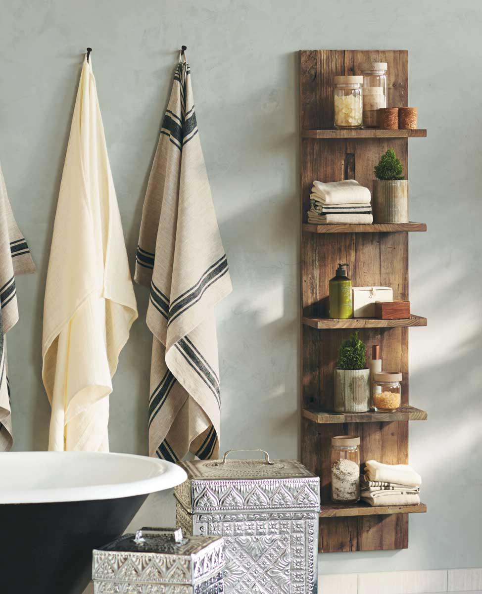 Pacific Bungalow Wooden Slab Shelves