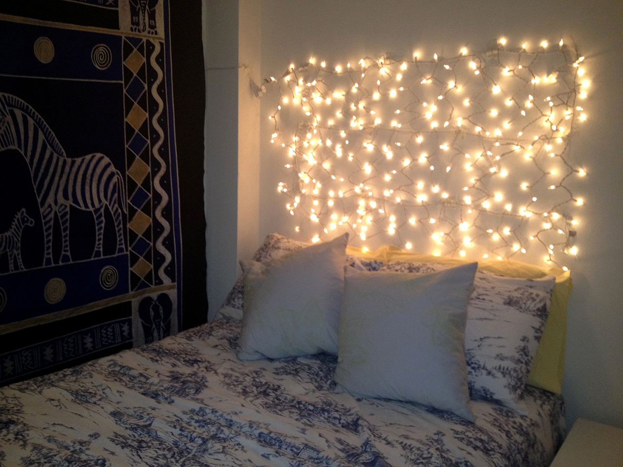 String Lights Headboard