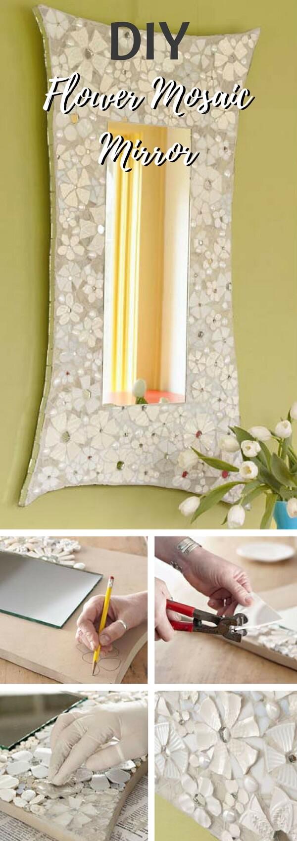 Create an Intricate Flower Mosaic Mirror