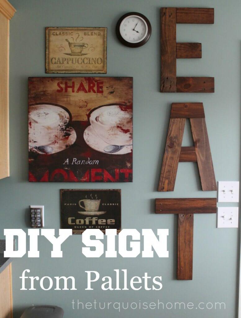 "Wood Pallet ""Eat"" Kitchen Art"