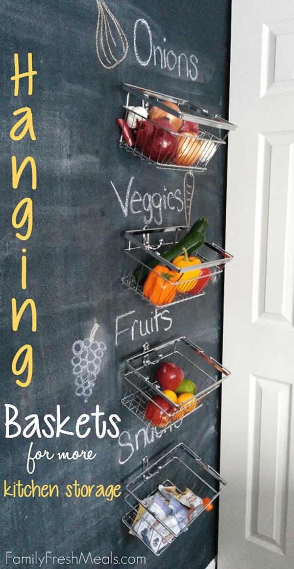 Chalkboard Kitchen Storage Baskets