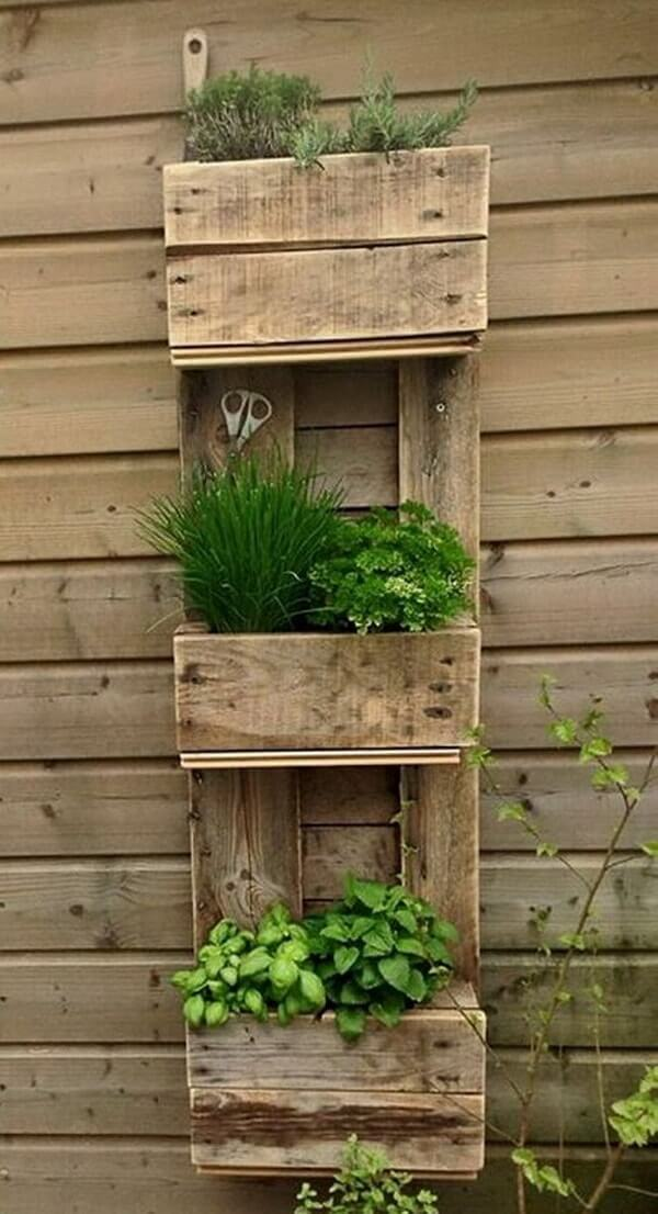 Rustic Three Tiered Herb Garden