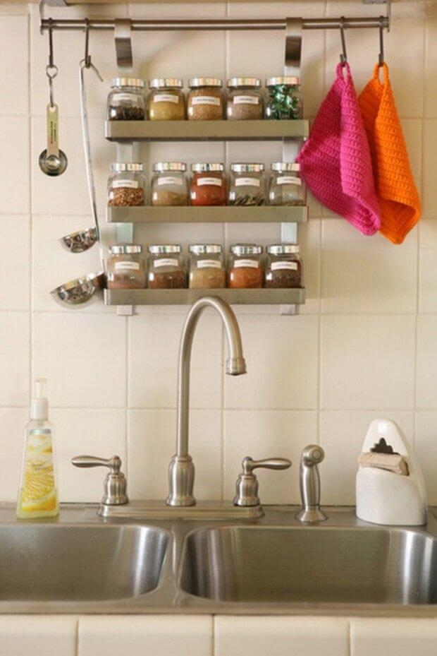Kitchen Countertop Organizing Idea for Spices