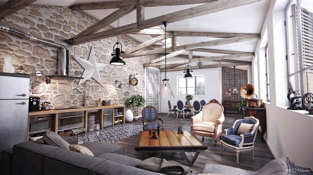 Americana Lodge Living Room Layout
