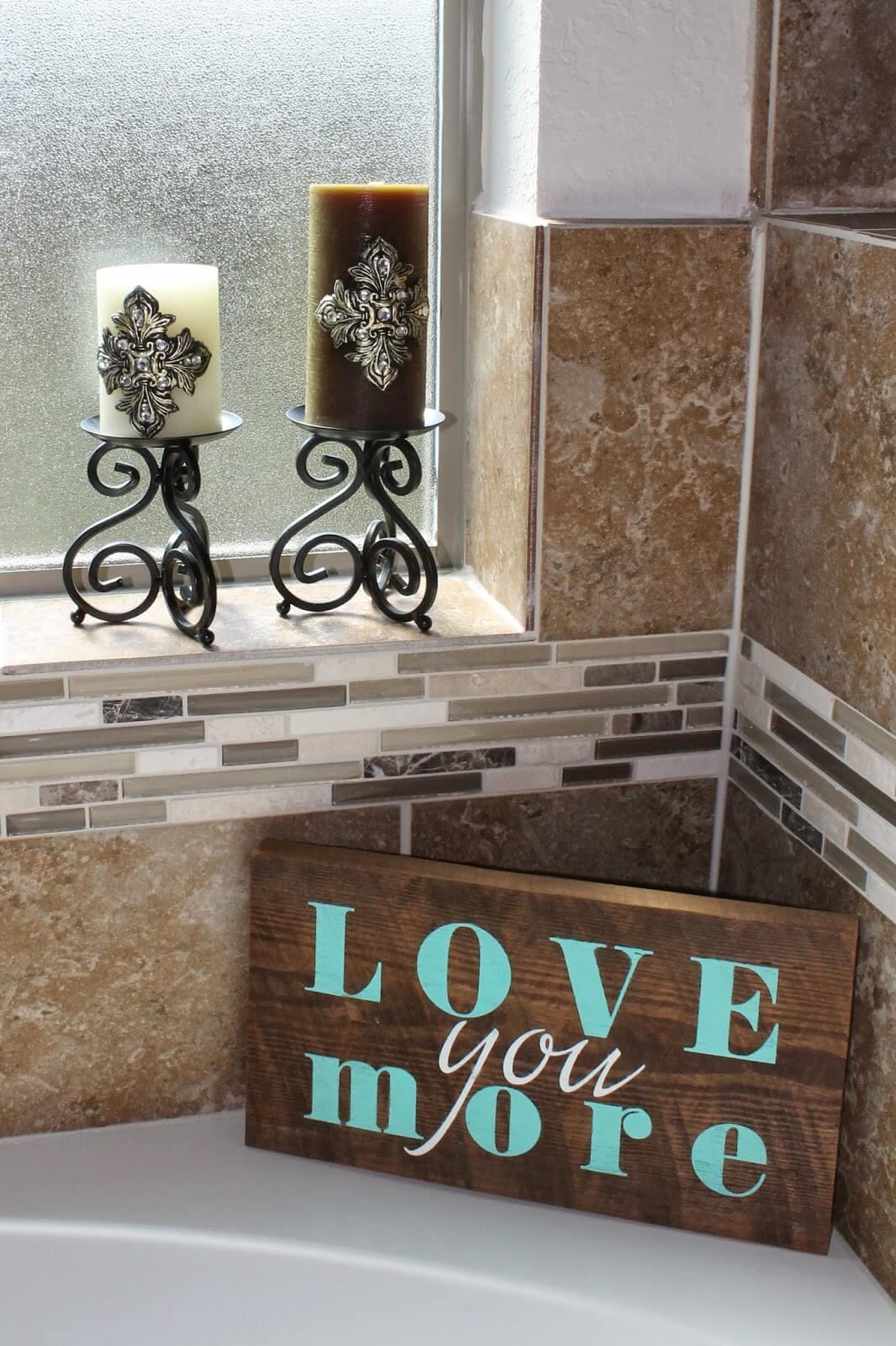 Happy Relationship Reminder for Your Bathroom Nook
