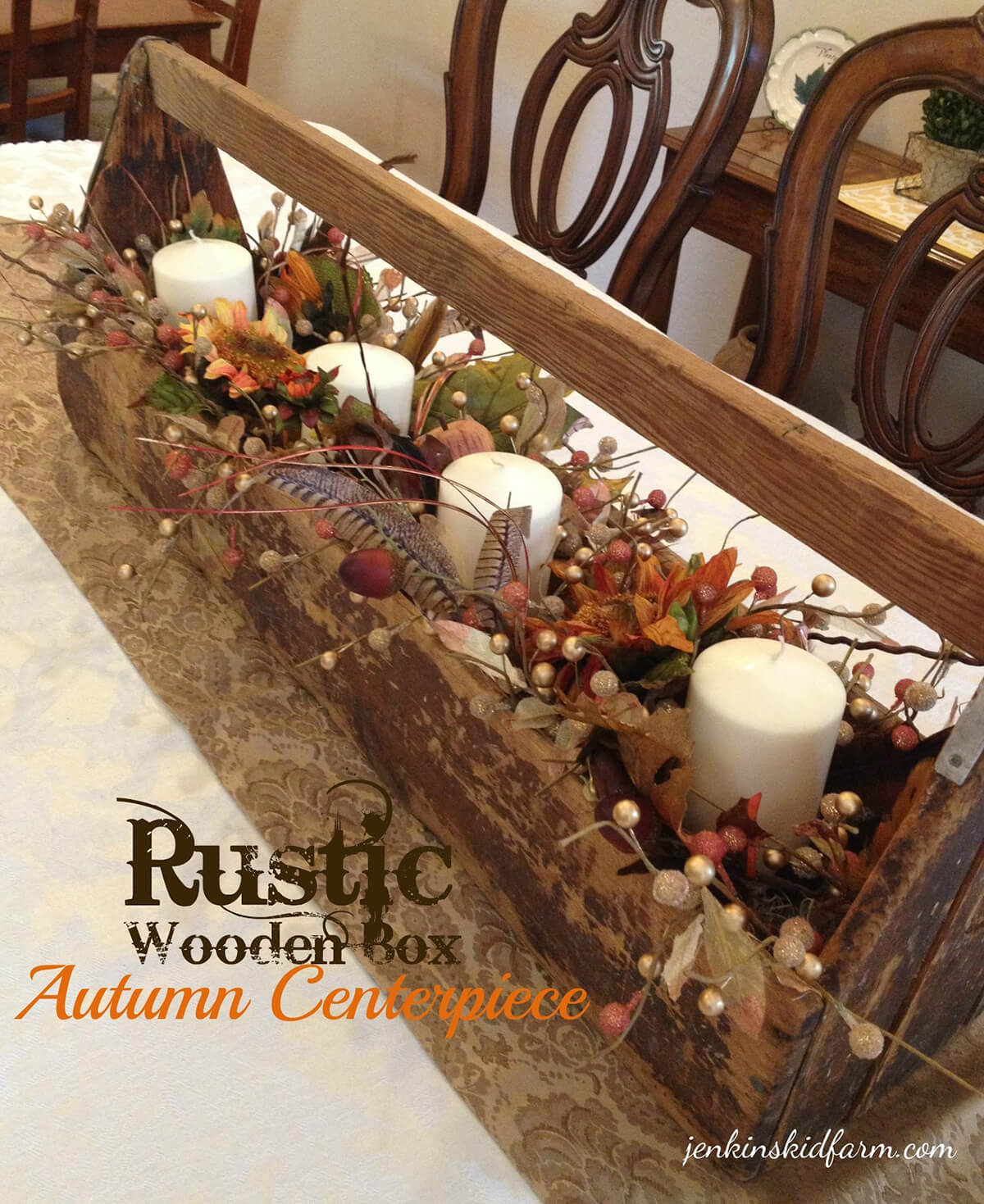 Lively Autumn Centerpiece with Leaves and Berries