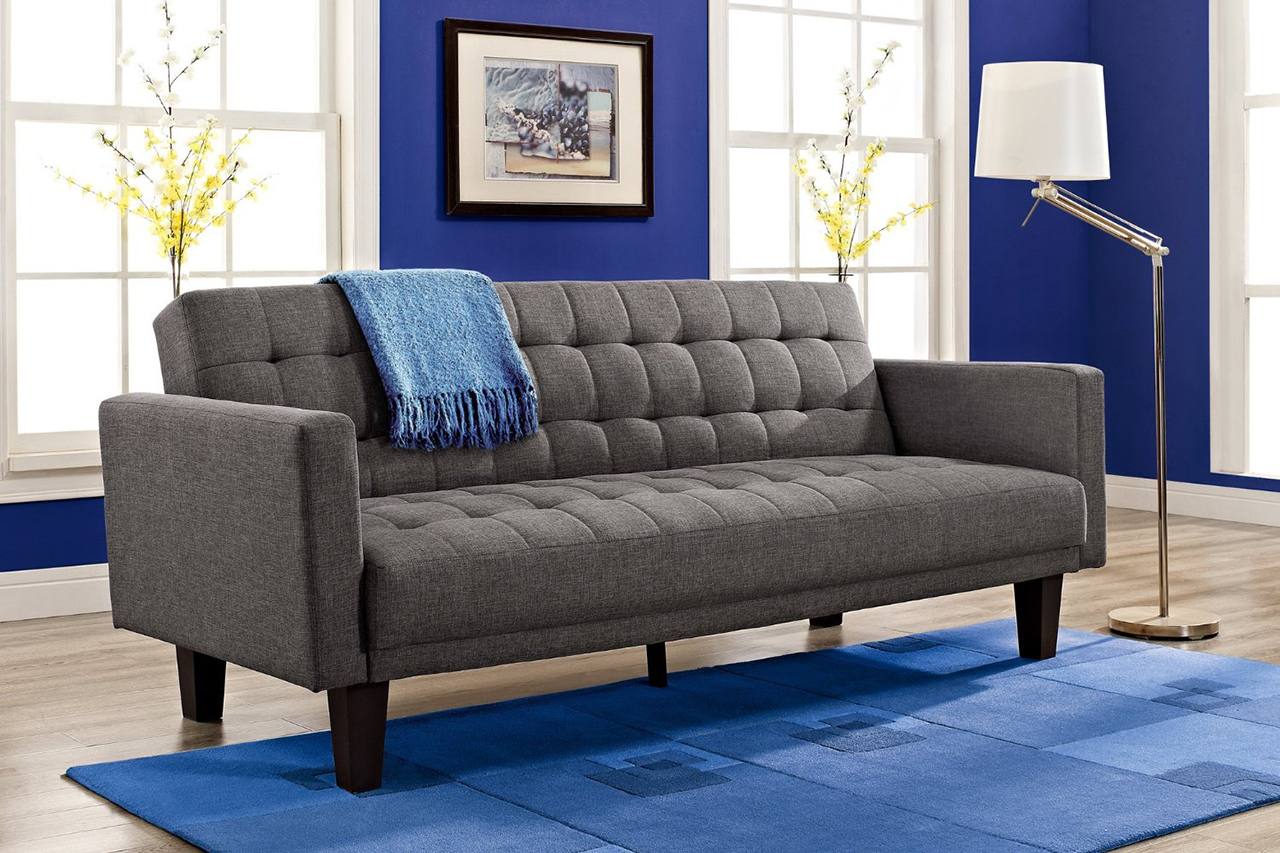 Sleeper Sofa - DHP Sienna Sofa Sleeper, in Gray