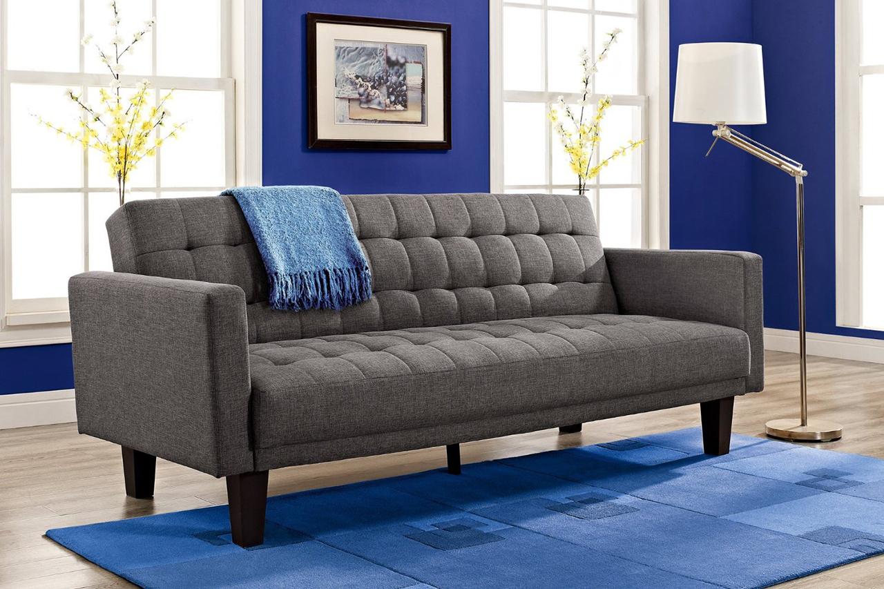 Sleeper Sofa - DHP Sienna Sofa Sleeper, in Gray