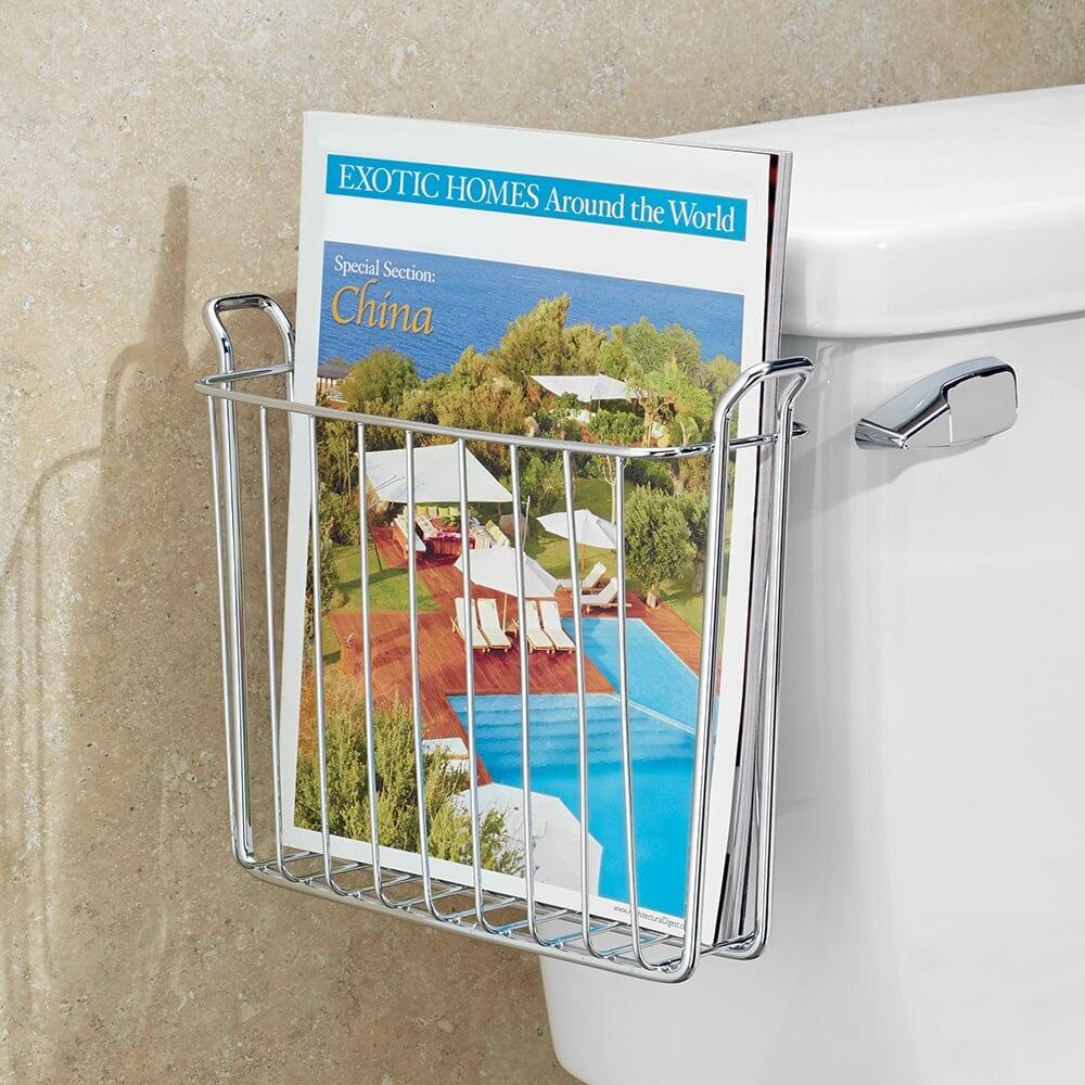Over-The-Tank Bathroom Magazine Holder