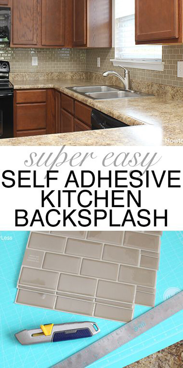 Peel and Stick Bricks are Easy and Stylish