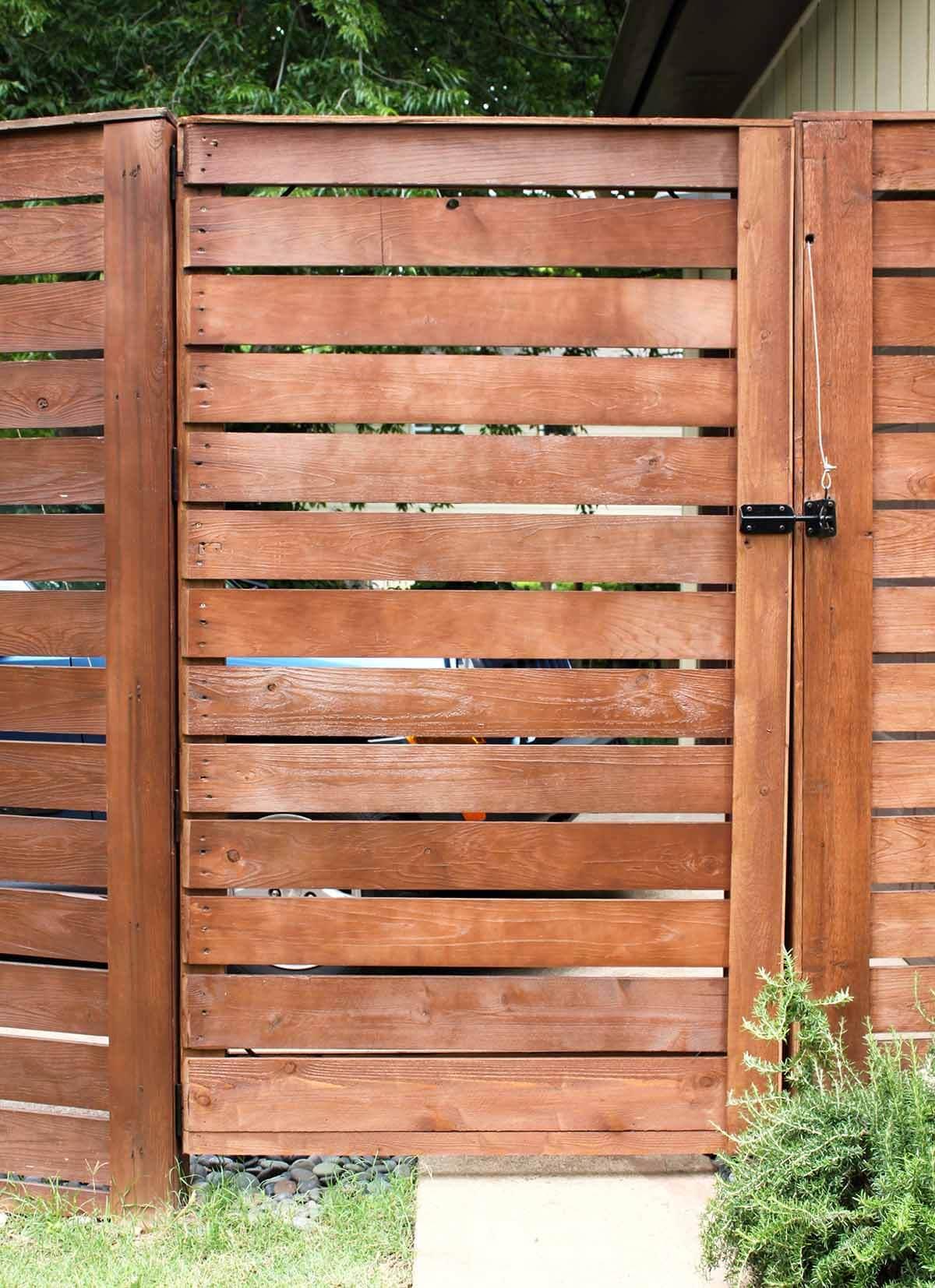 Tall Cedar Wood Plank Fence