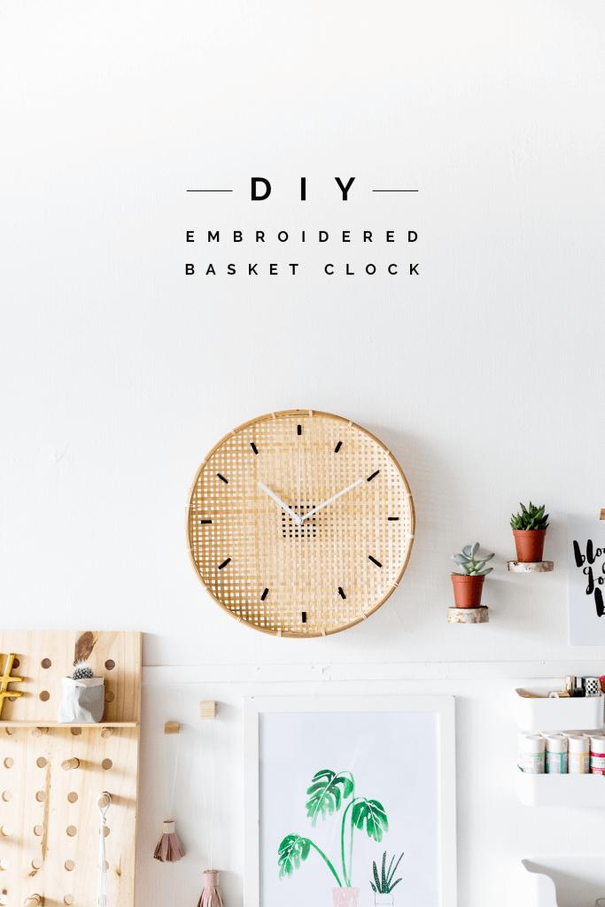 Beachy Basketweave Wall Clock Craft