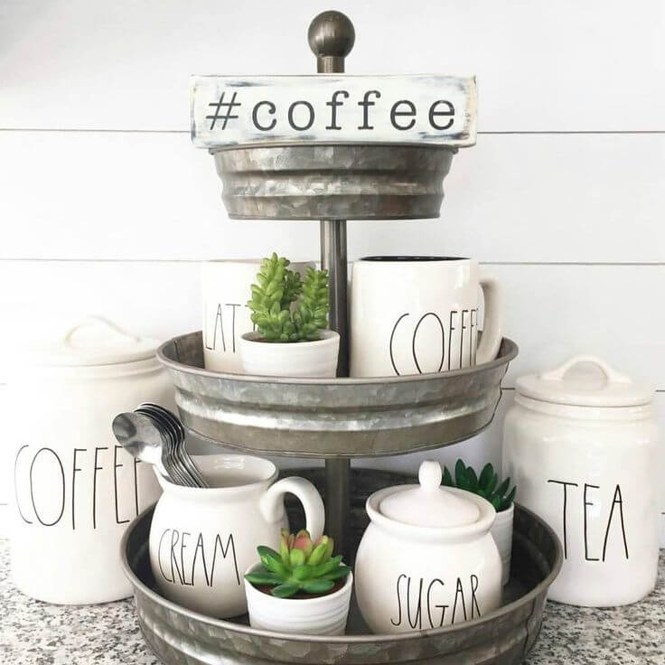 Galvanized 3-layer Coffee Station