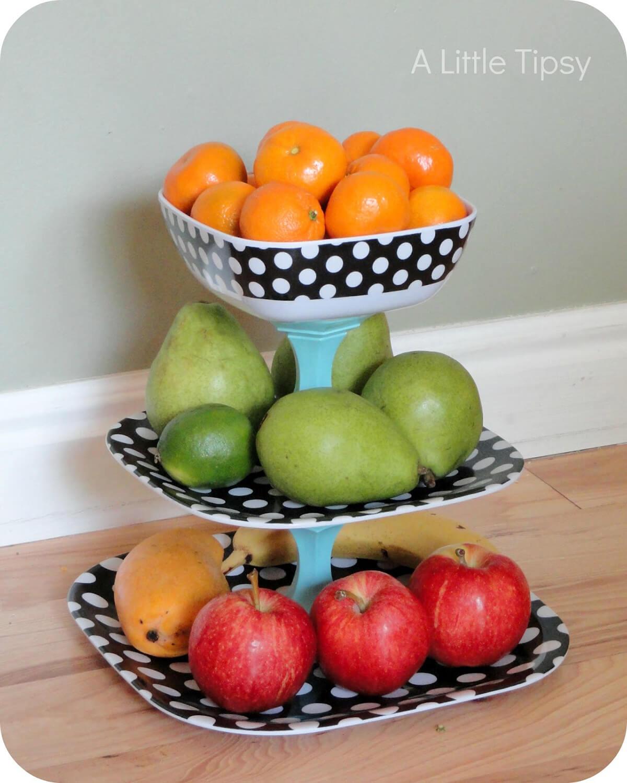 Three Tiers Of Fruit Countertop Piece