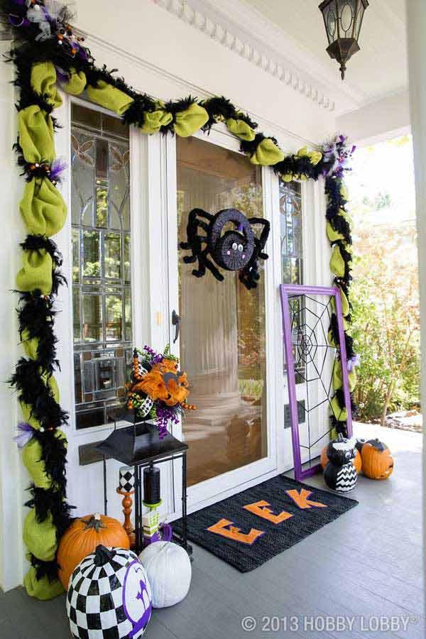 Spider Wreath Halloween Door Decoration