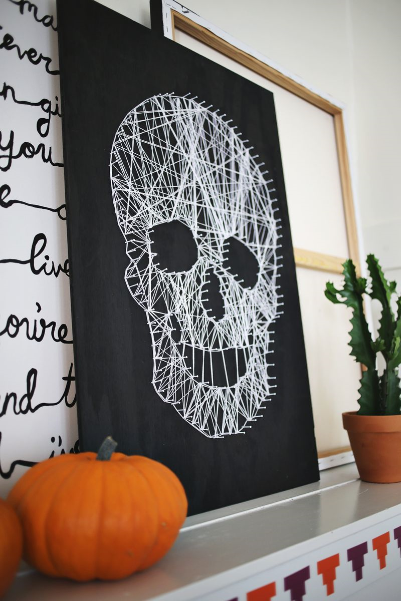 String Makes Scary Skull
