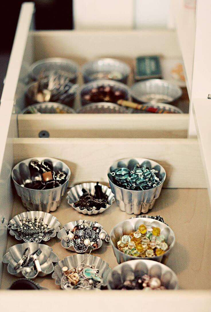 Metallic Muffin Tin Accessory Cups