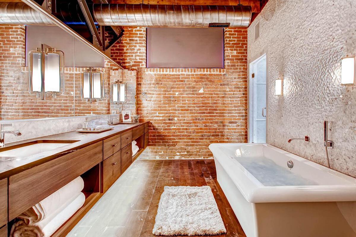Chic Modern Industrial Bathroom