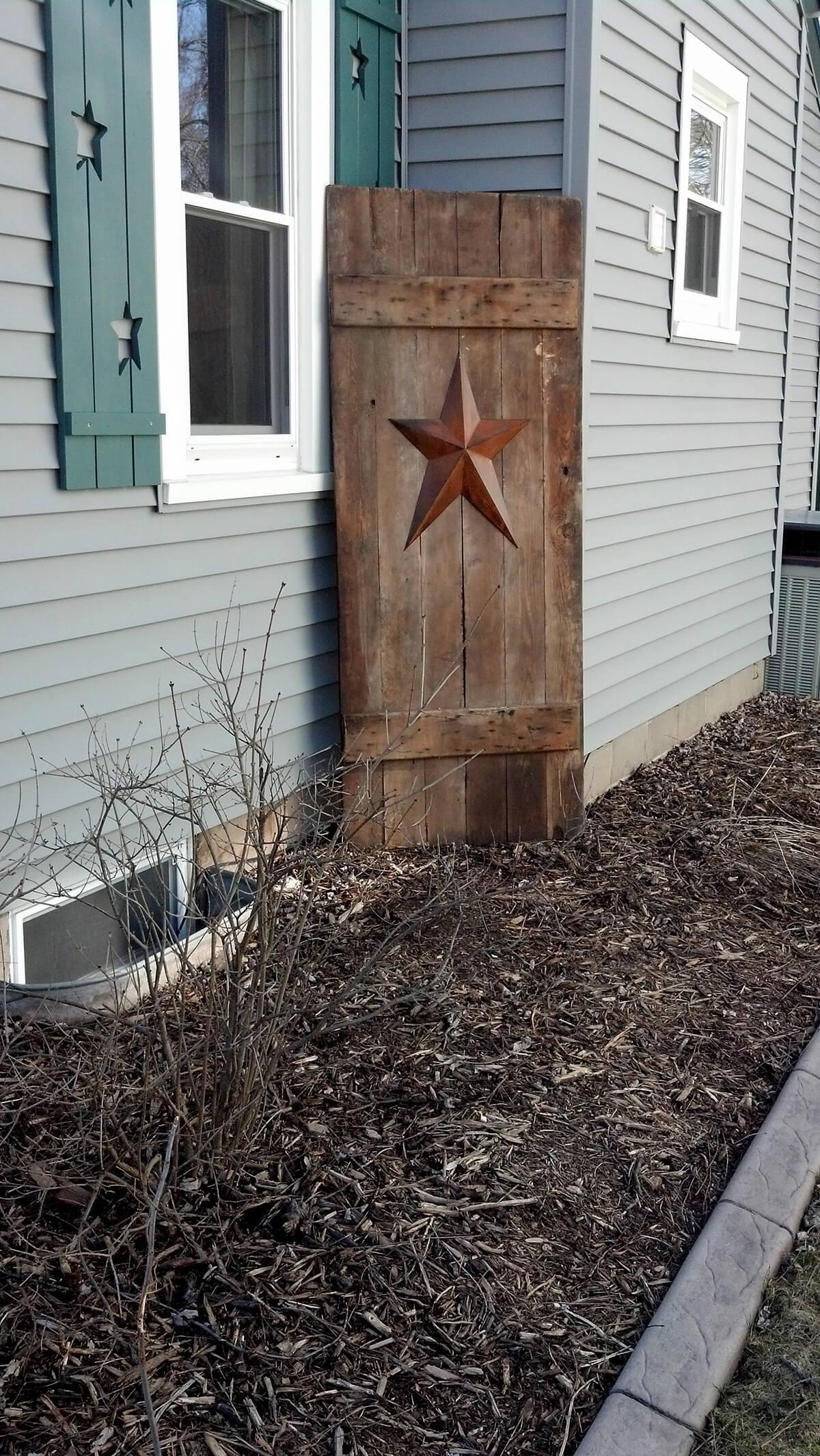 Starred Door as a Garden Backdrop