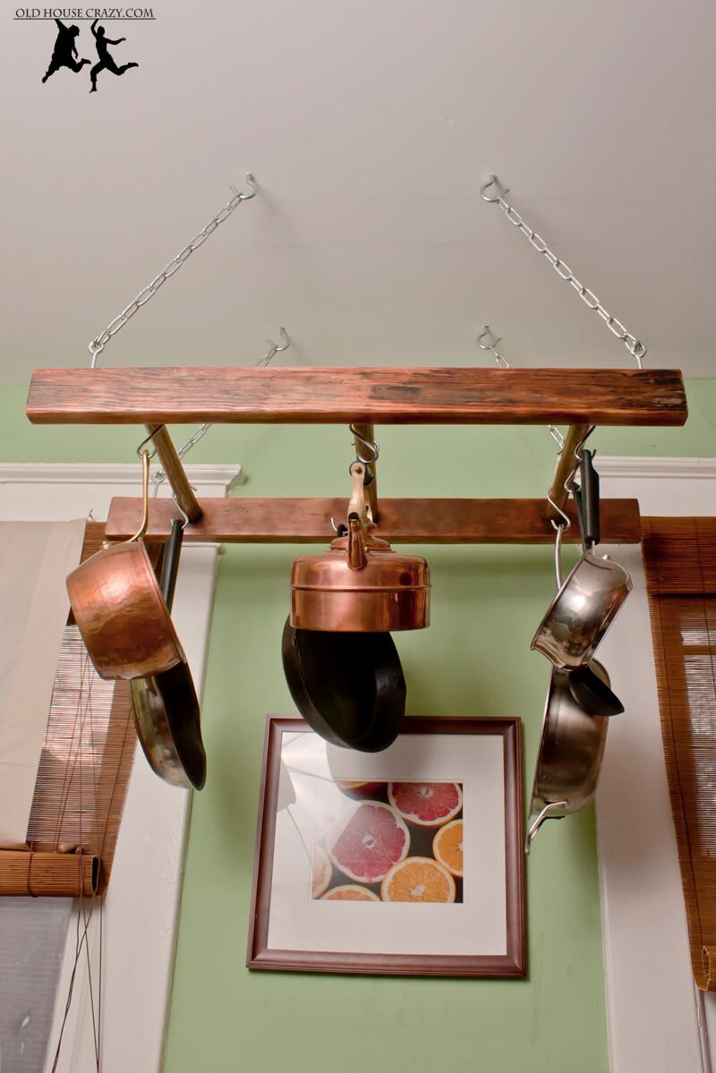 Handsome and Handy Repurposed Pot Rack
