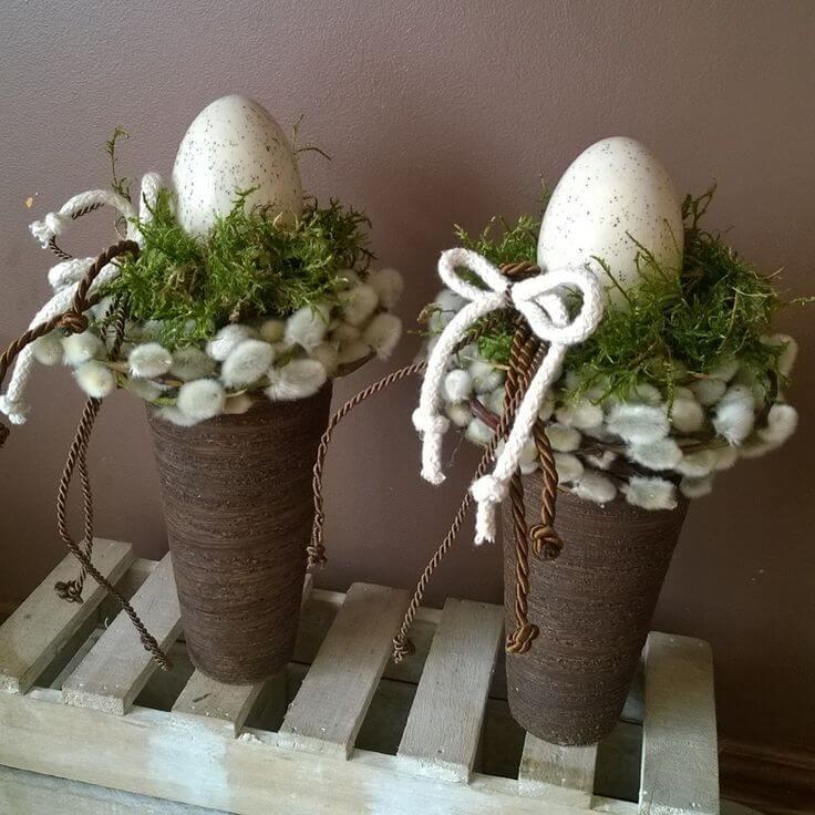 Classy Easter Egg Nest in a Vase