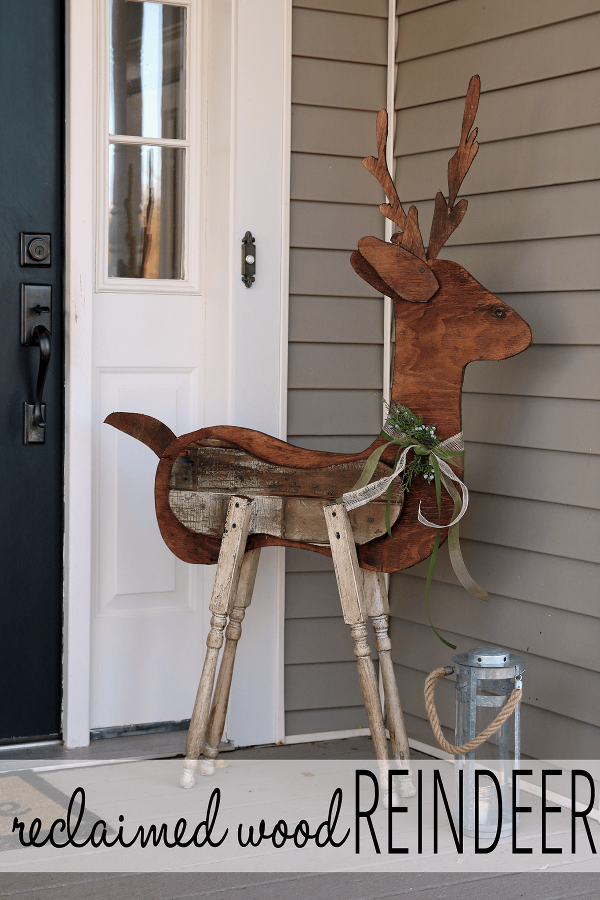 Found Wood and Table Leg Reindeer