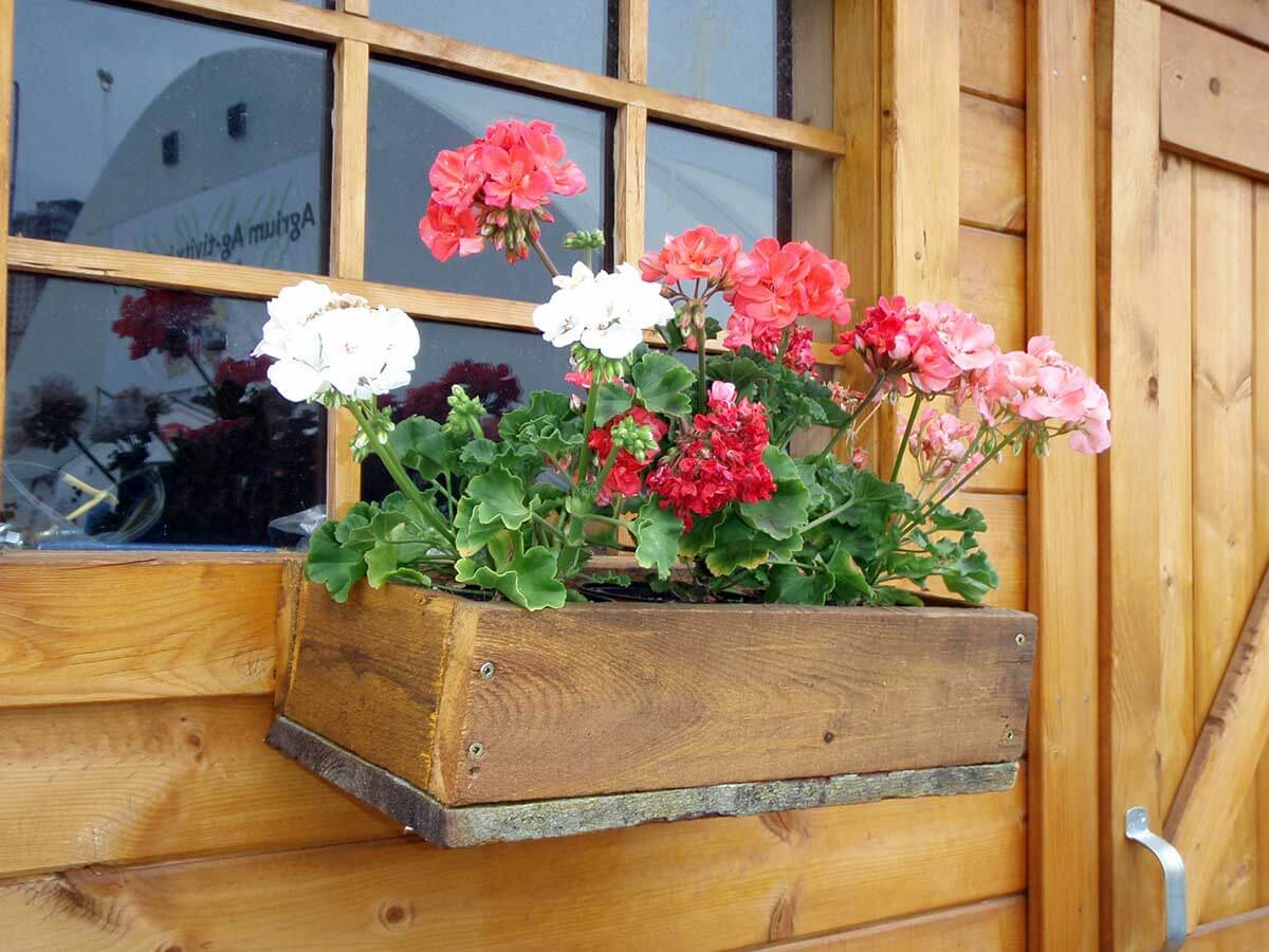 Simple Rustic Wooden Flower Box