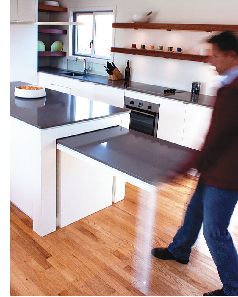 Kitchen Island with Pull-Out Dining Table