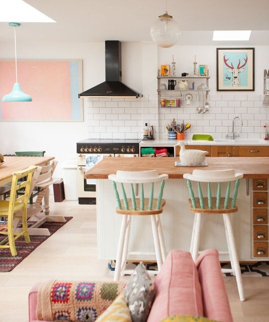 Personalize with Found Items Kitchen Design Idea
