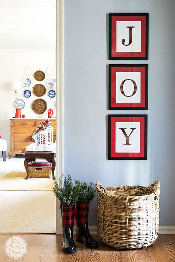 Creative and Merry Joy Wall Hanging