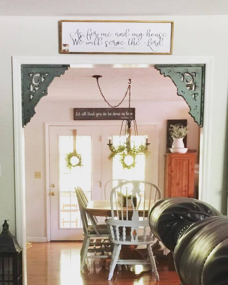 Frame Your Doorway with Colored Corbels