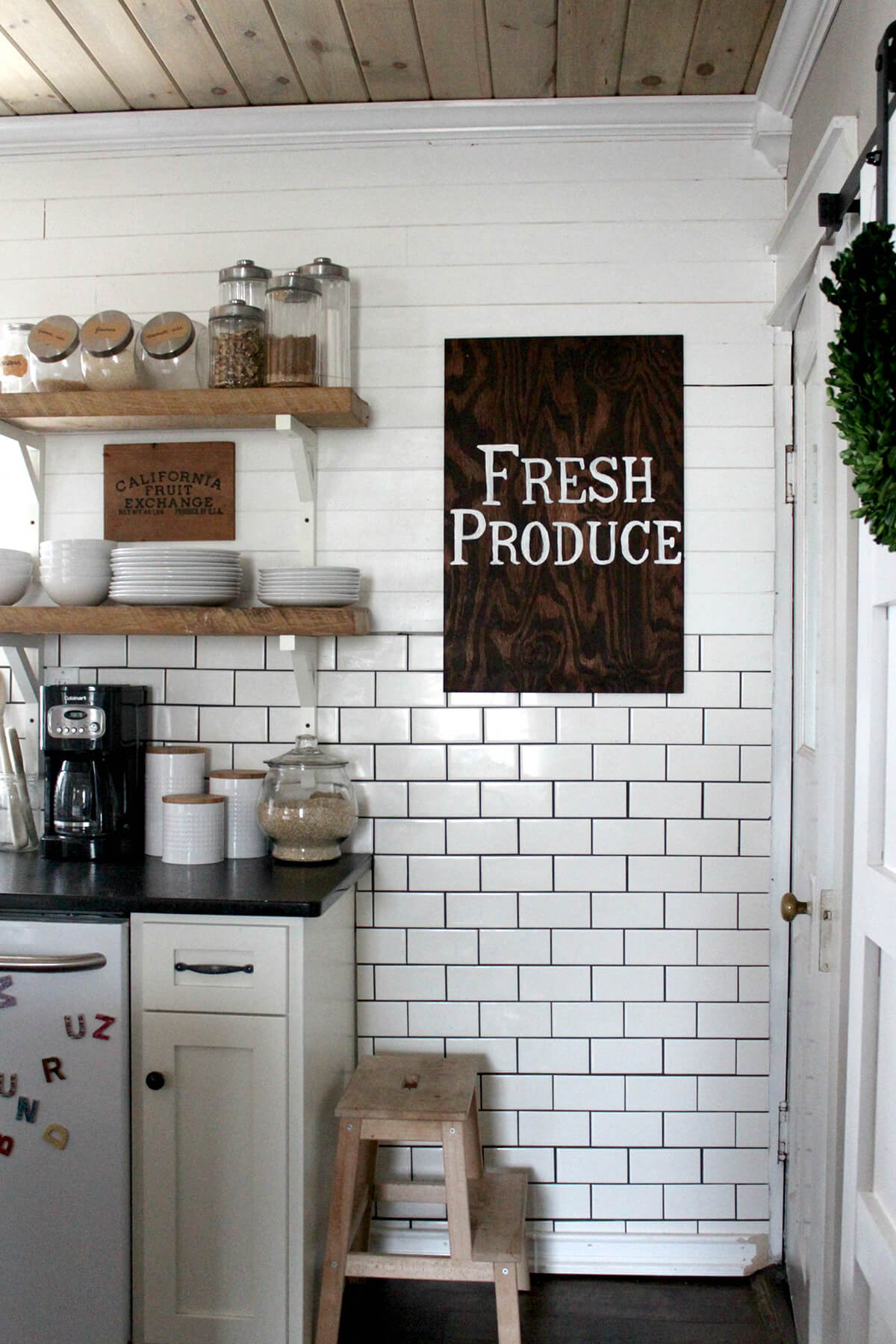 Hand Lettered Fresh Produce Sign