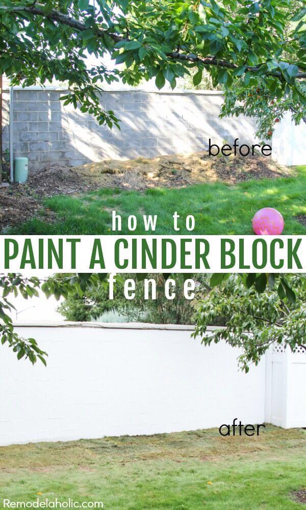 DIY Painted Cinderblock Wall