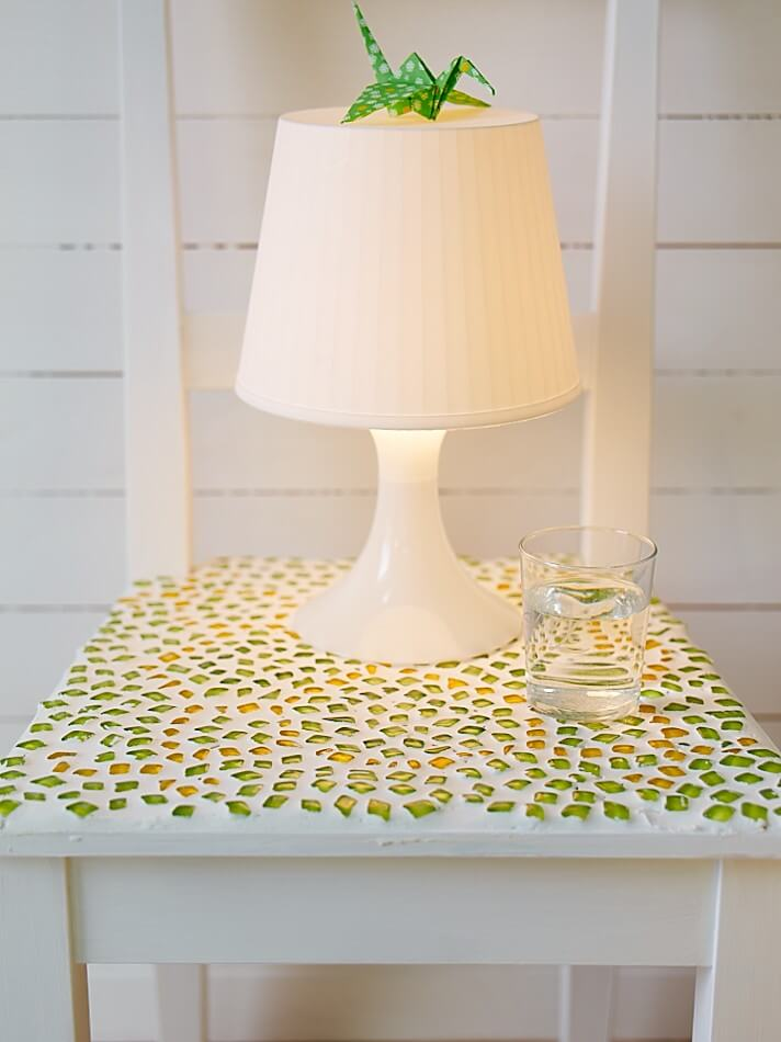 DIY Mosaic Crafts Project with Green Glass