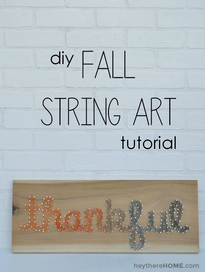 """Thankful"" Ombre String Art"