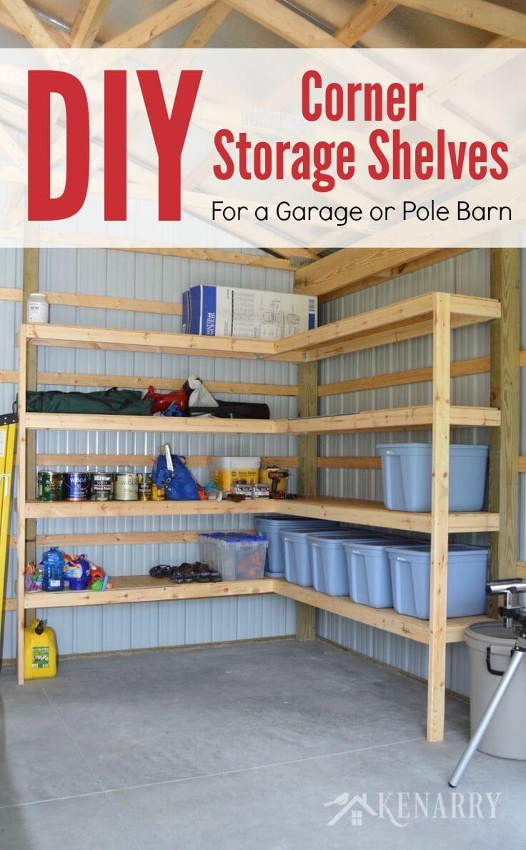 DIY L Shelves for the Garage
