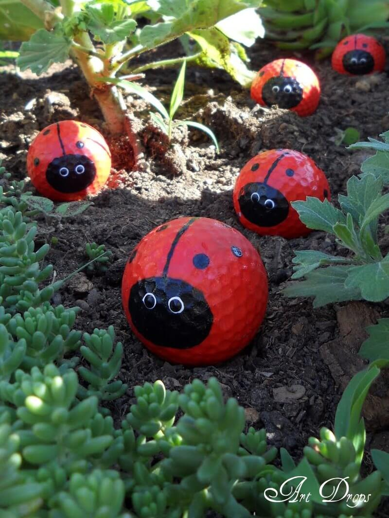 Ladybugs Made From Play Balls