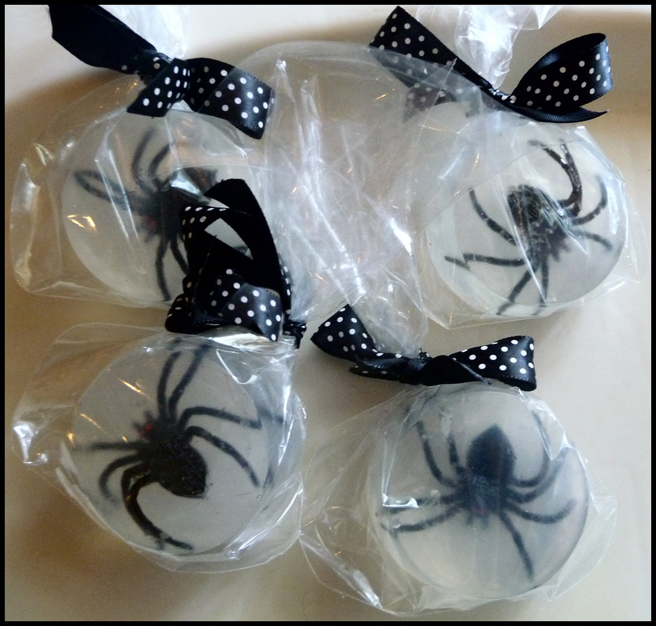 Melt-and-pour Spider Soaps