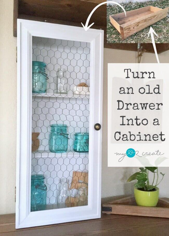 Repurpose a Drawer with Chicken Wire