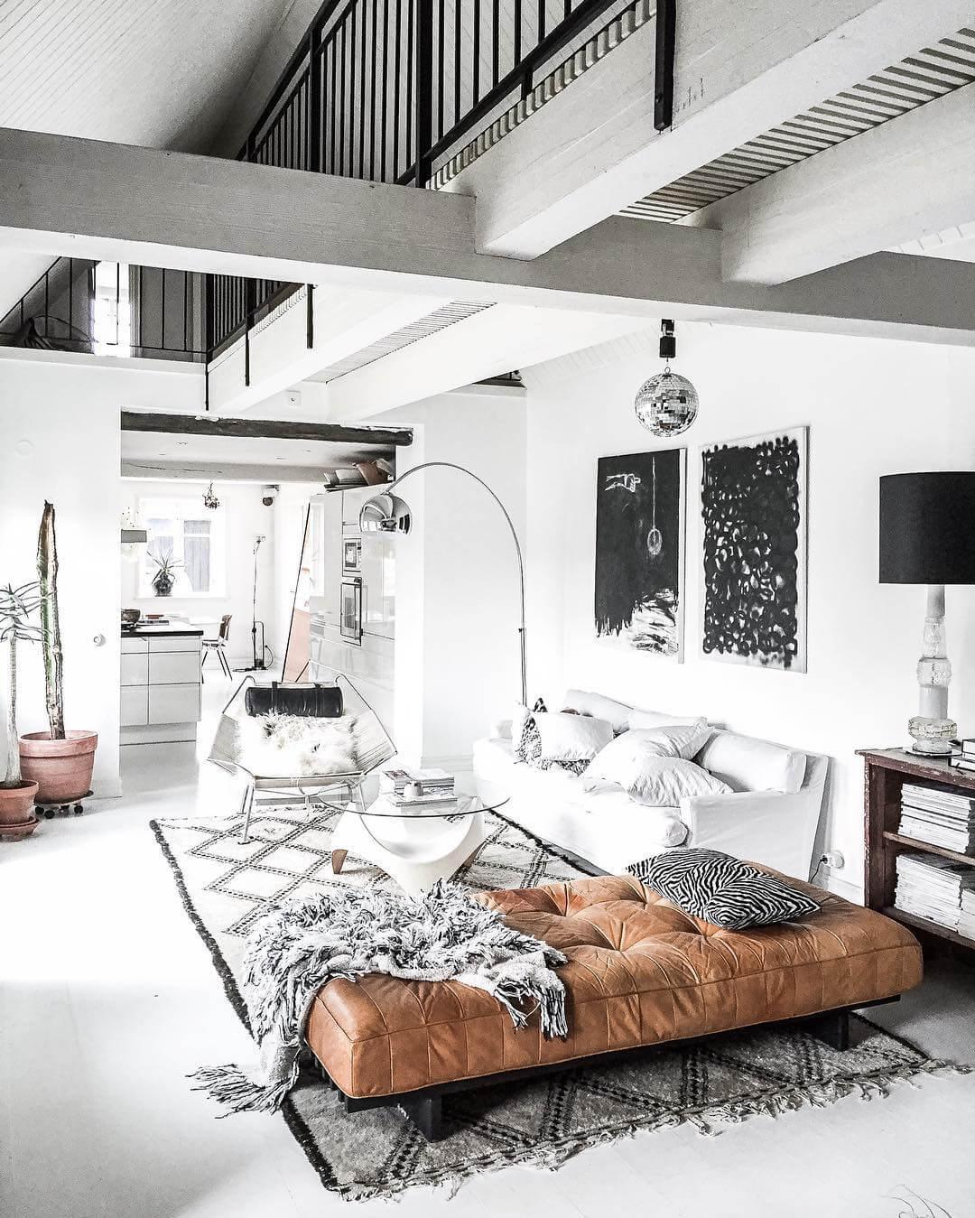 Monochromatic Look Modern Living Room