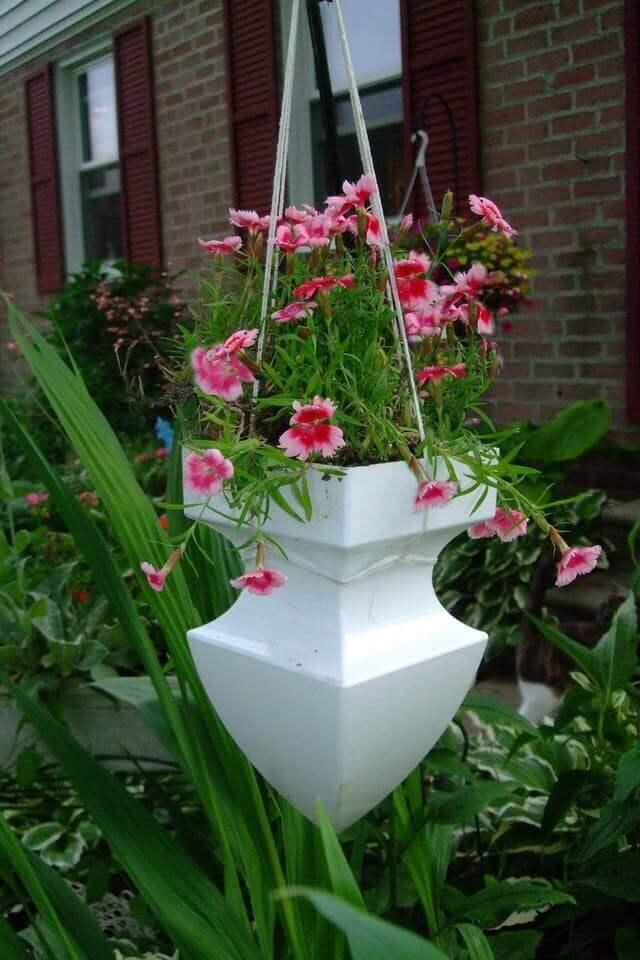 Cleverly Repurposed Architectural Pediment Planter