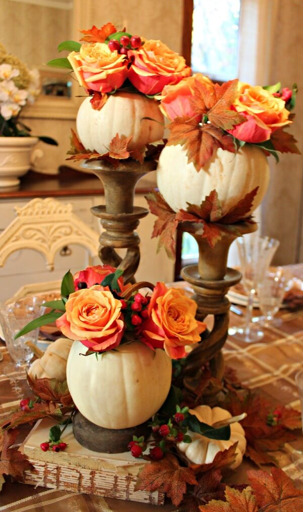 Candle Bases Raise Floral Displays